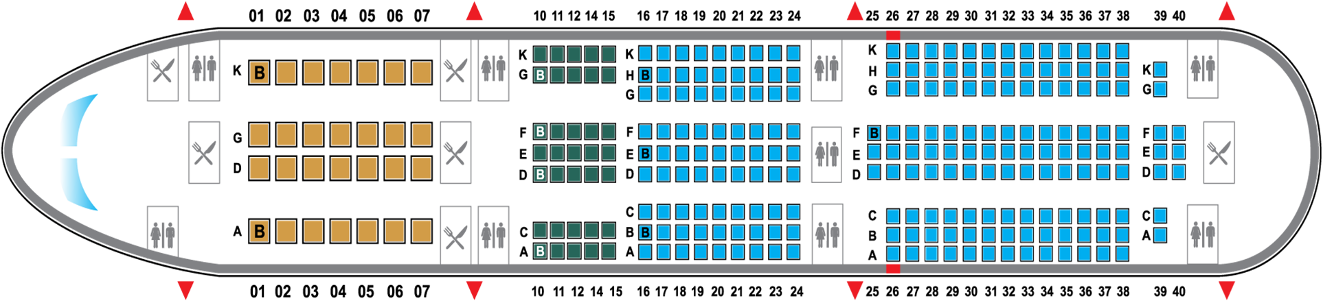 SEAT MAP BOEING 787